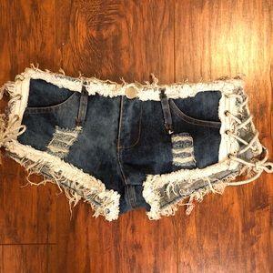 Pants - Denim Daisy Dukes